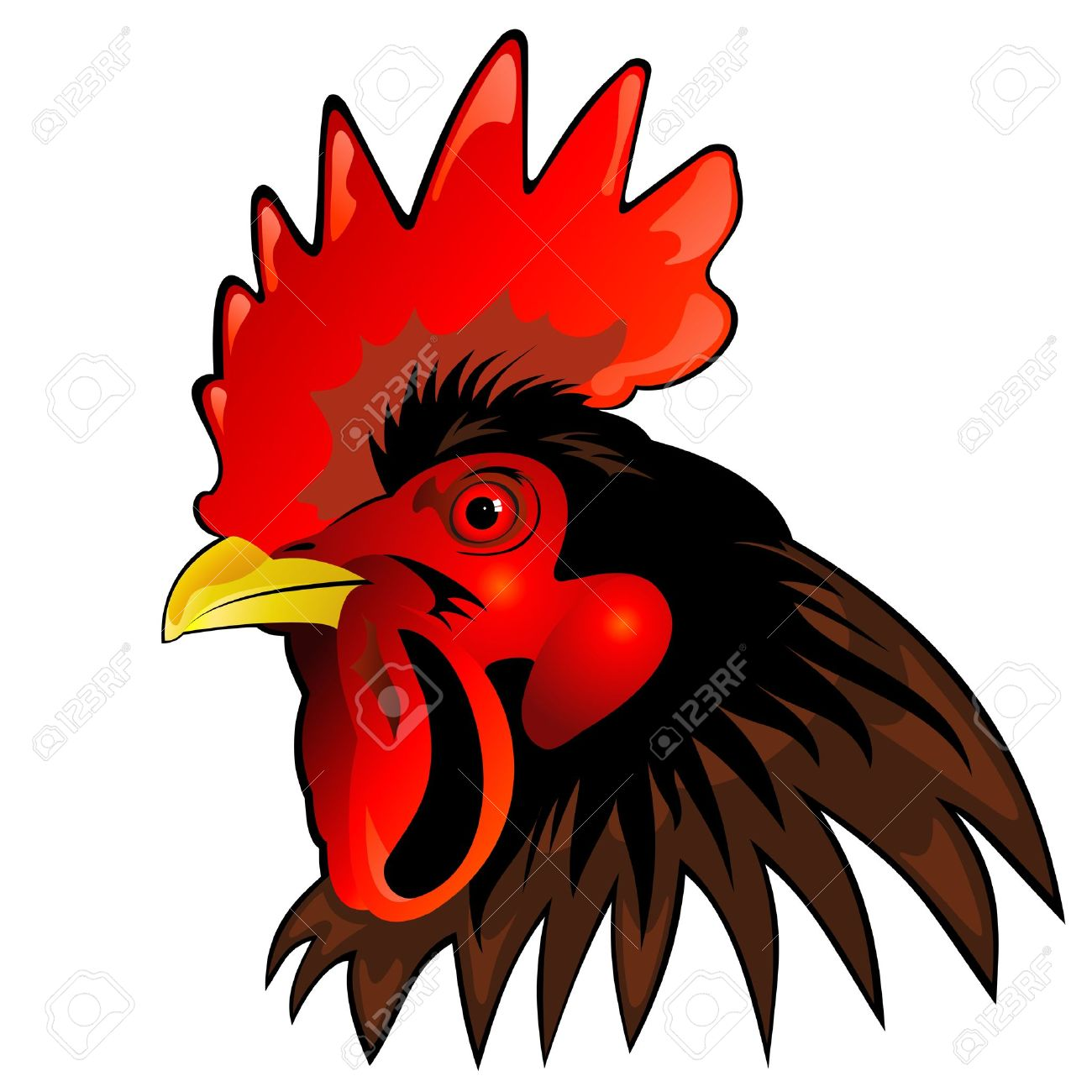 Rooster clipart rooster head #1