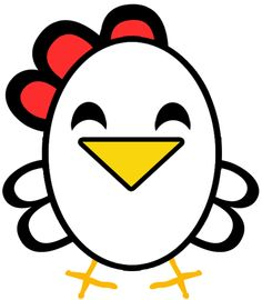 Drawn rooster cartoon Artistic Funny Chicken cartoon Easiest