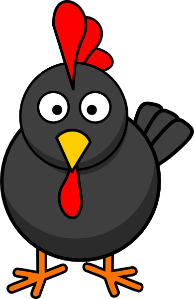 Rooster clipart face #11