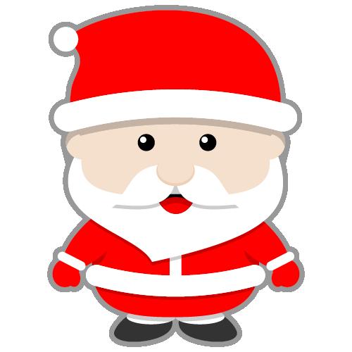 Drawn santa cute Art clip face claus clipart