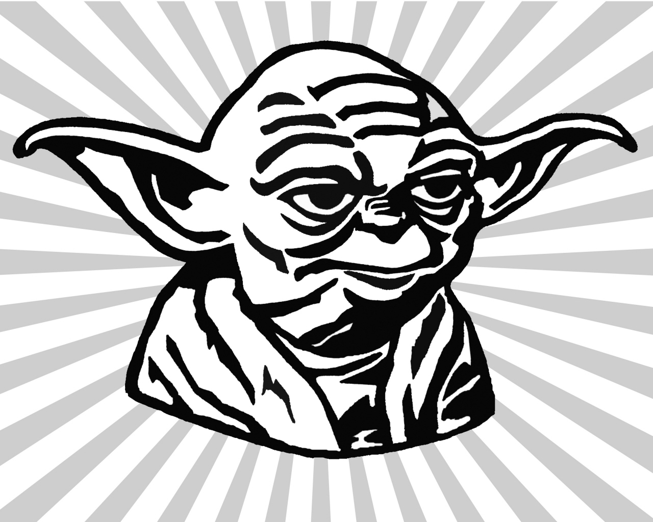Drawn star wars head Collection Yoda draw to How