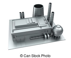Factory clipart 3d factory  factory of Factory illustration