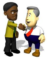 Moving clipart handshake Gif Animation Animated Factory