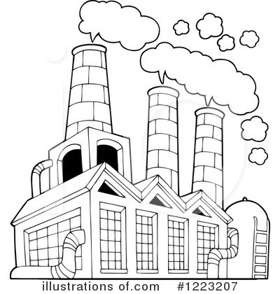 Factory clipart black and white Visekart #1223207 Illustration by Clipart
