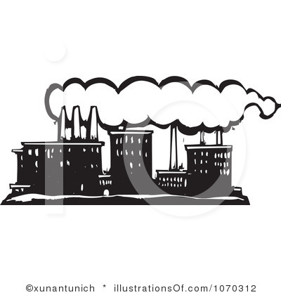 Factory clipart black and white And Black Art White Clip
