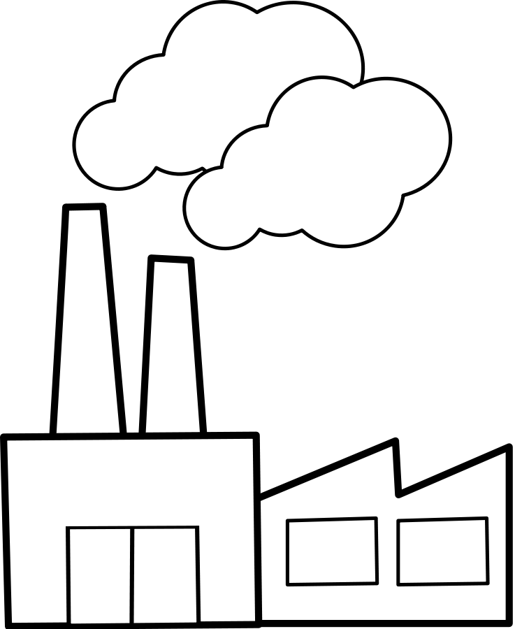 Factory clipart black and white  Free Clipart on Factory