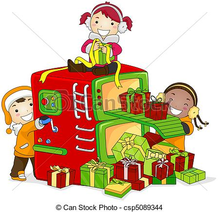 Factory clipart christmas Of in Drawing  Gift