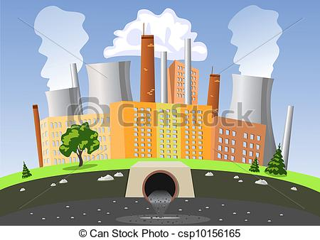 Factory clipart city pollution #2