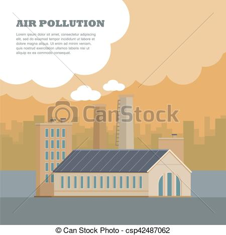 Factory clipart city pollution #7