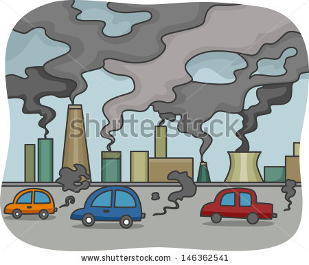 Factory clipart city pollution #1