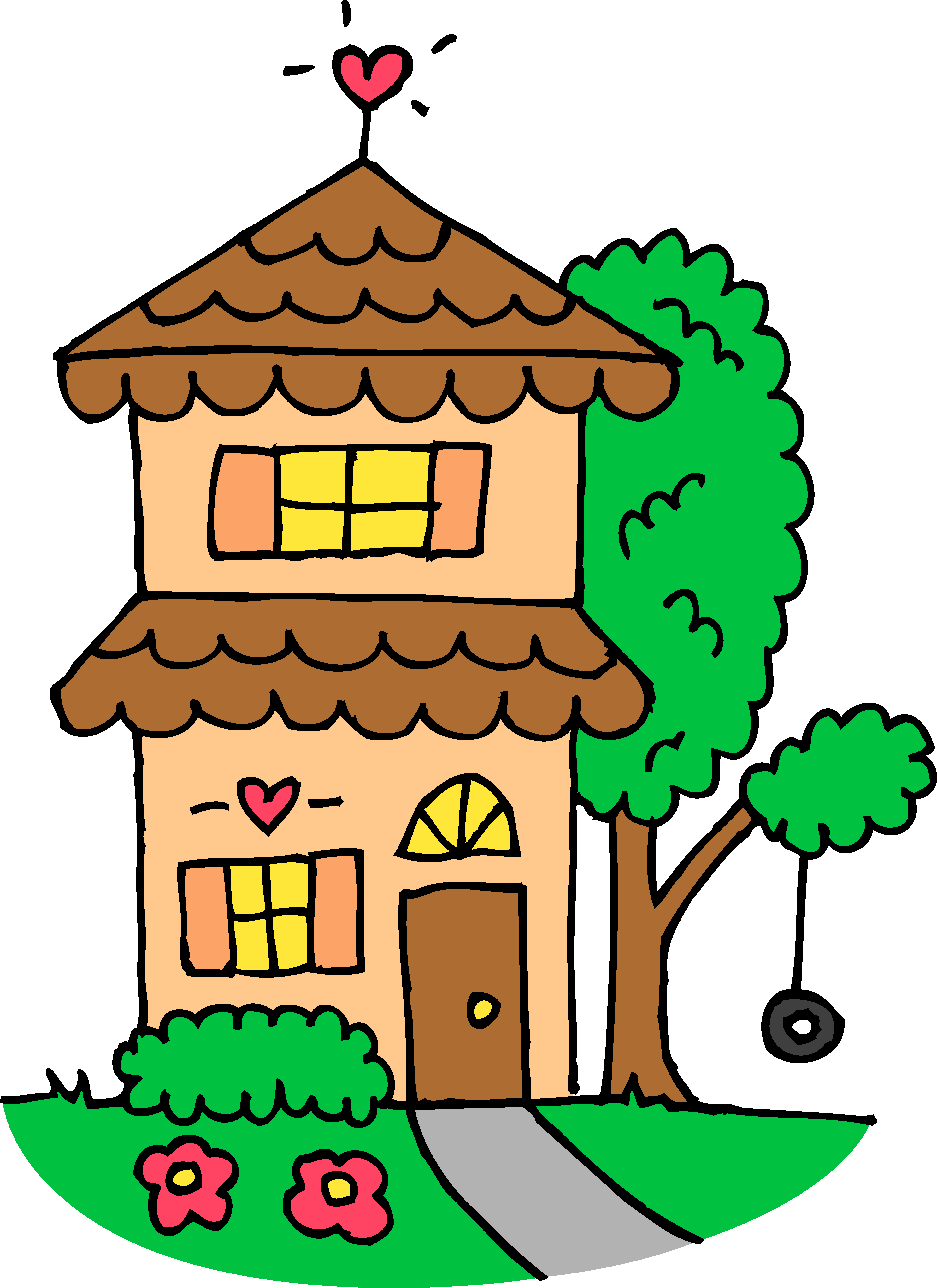 Scenery clipart cute house #3