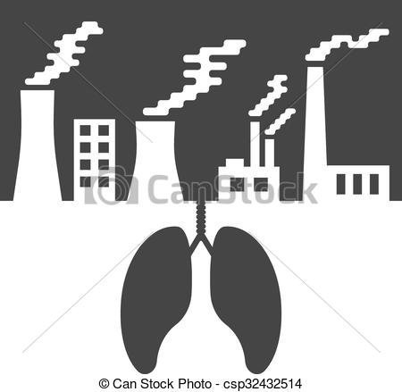Factory clipart contamination Vector Vector with environmental of