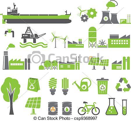 Factory clipart energy Symbols energy csp9368997  concept