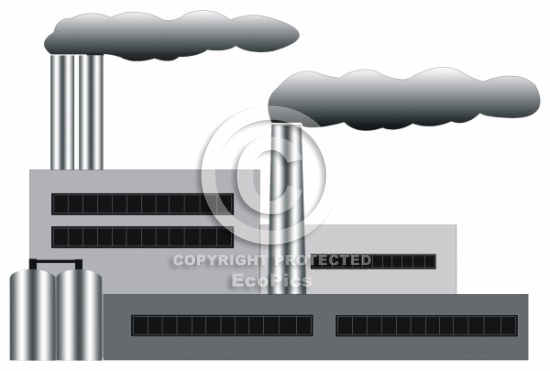 Factory clipart factory air pollution  Industry Air Category Clipart