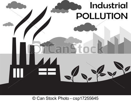 Factory clipart factory air pollution Chimneys against of pollution Air