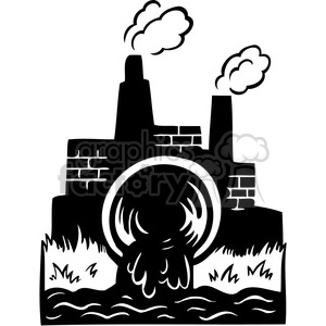 Factory clipart factory air pollution Drainage 386098 polluted getting water