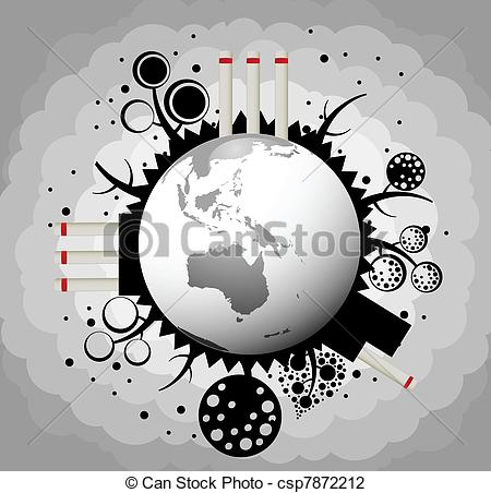 Factory clipart factory air pollution Of Vector silhouette Factory of