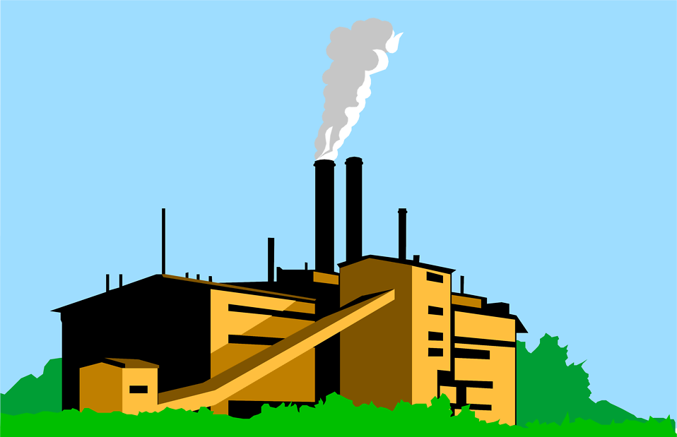 Factory clipart factory building With building clipart Smoke smoke