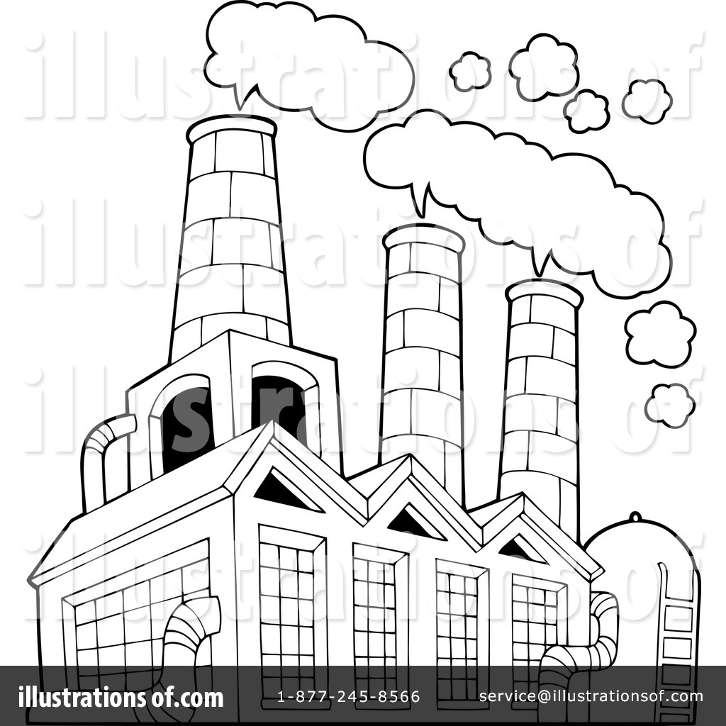 Factory clipart factory warehouse Royalty Illustration Clipart Factory visekart