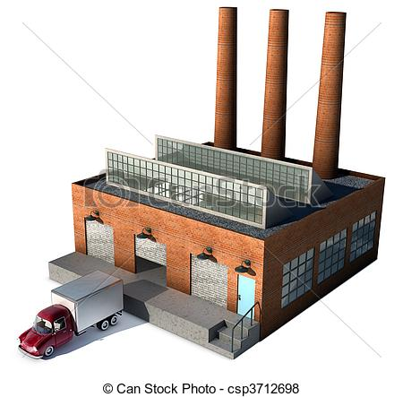 Factory clipart factory warehouse Factory truck a with csp3712698