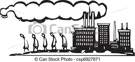 Factory clipart factory worker Workers leave leave Art Vector