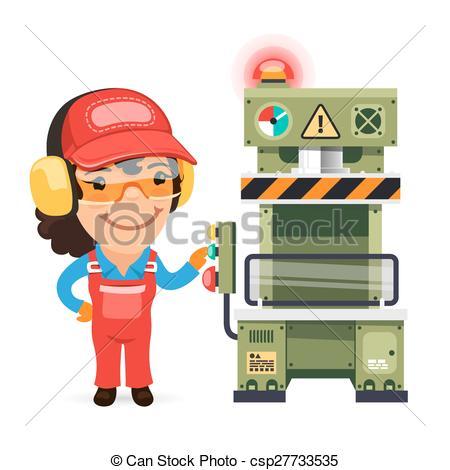 Factory clipart factory worker Vectors Press Working csp27733535 Press