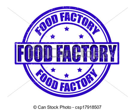 Factory clipart food factory Food of stamp Vector Clipart
