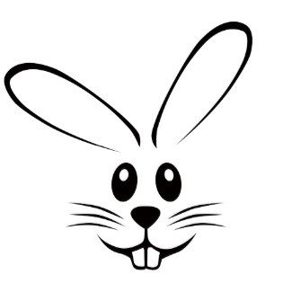 Simple clipart bunny #7