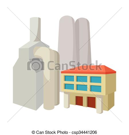 Factory clipart fossil fuel Power station cartoon icon station