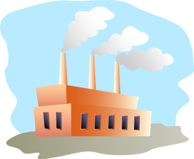 Factory clipart vector art Us clean to economy Energy