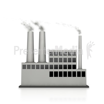 Smoking clipart industry Great Building Factory Industrial Clipart