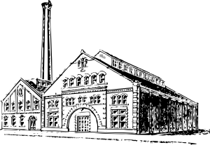 Factory clipart vector art Old Industrial Industrial Factory Factory
