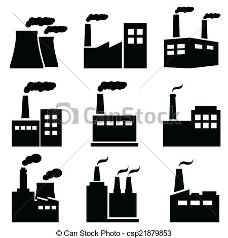 Factory clipart industrial Vector icons plant Factory icons
