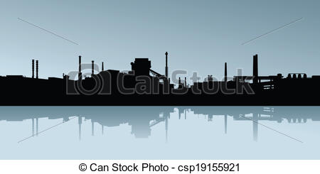 Factory clipart industrial area Area of an Industrial of
