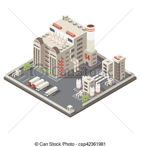 Factory clipart industrial area Csp42361981 Colored Area  Industrial