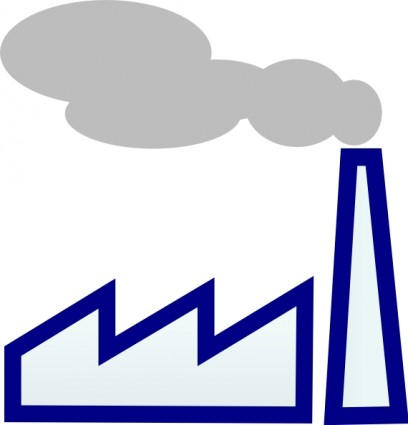 Factory clipart industrial area Pollution Art Factory Clipart Industrial