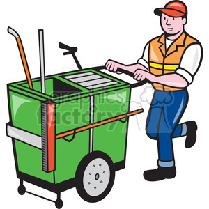 Factory clipart janitor Shape push janitor shape garbage
