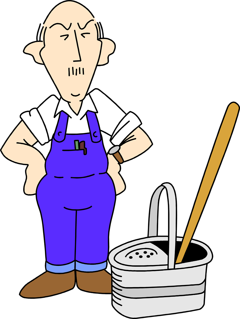 Factory clipart janitor Janitor cliparts Clipart Cleaning Genders