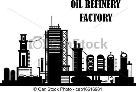 Factory clipart oil factory Vector of for csp16616981 Oil