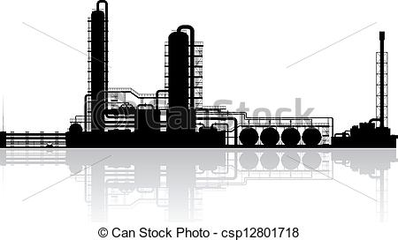 Factory clipart oil factory Csp12801718 Vector Oil Silhouette Oil