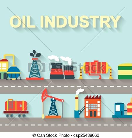 Factory clipart oil factory And  technology Art industry
