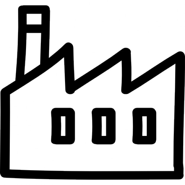 Factory clipart outline Outline hand Factory Icons building