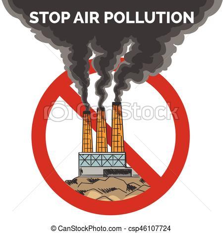 Factory clipart polluted air Of air air Black pollution