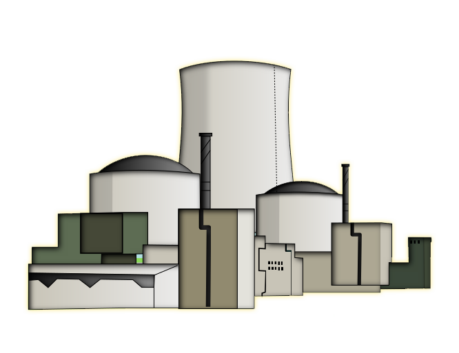 Factory clipart power plant  nuclear plant art nuclear