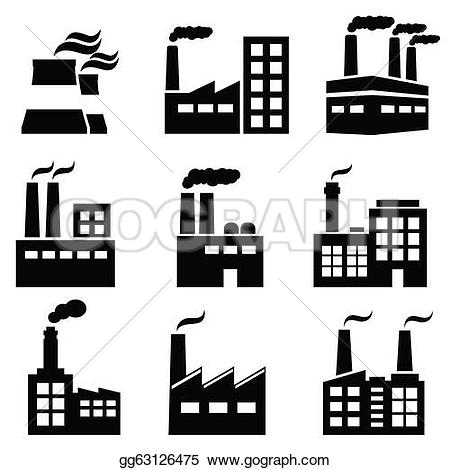 Factory clipart power plant Plants Free Industrial building Power
