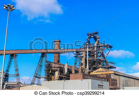 Factory clipart steel industry Stock industry plant of Blast