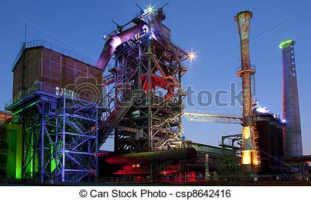 Factory clipart steel industry Of furnace steel industry Stock