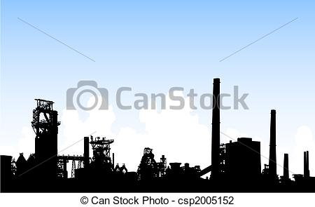 Factory clipart steel industry  Industrial editable Illustration Industrial