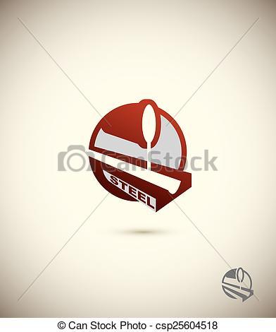 Factory clipart steel industry Art industry of logo Vector