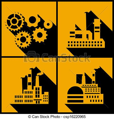 Factory clipart vector art Clip background factory buildings Art